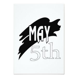 5 de mayo invitación 12,7 x 17,8 cm