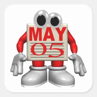 5 de mayo calcomanías cuadradas personalizadas