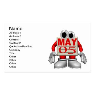 5 de mayo plantilla de tarjeta de visita