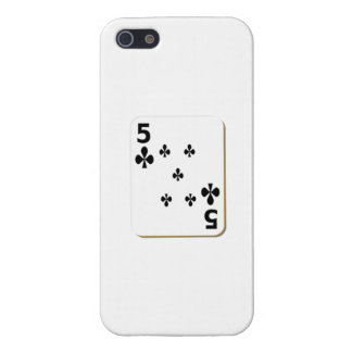 5 del naipe de los clubs iPhone 5 carcasas