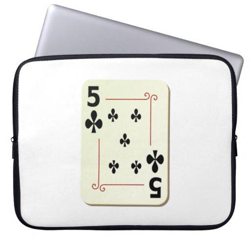 5 del naipe de los clubs manga computadora