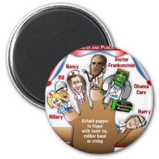 5 Democrat Finger Puppets Fridge Magnet