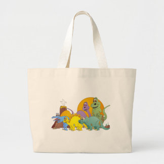 5 Dinosaur Friends Large Tote Bag