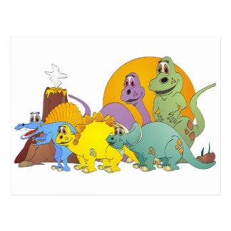 5 Dinosaur Friends Postcard