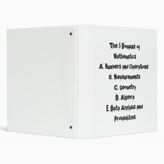 5 domains of math binder