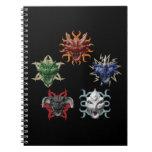 5 dragones libro de apuntes con espiral