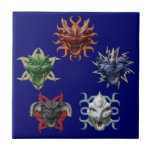 5 dragones tejas  ceramicas