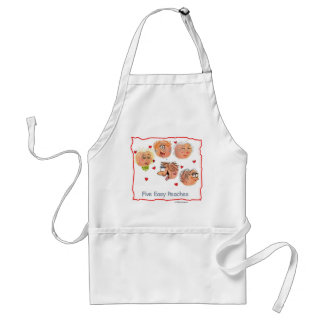 5 Easy Peaches - punny designs by suzi long Adult Apron