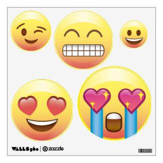 5 Emoji hace frente a las etiquetas de la pared Vinilo Adhesivo