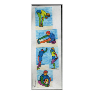 5 estiramientos del ejercicio que pintan los póster
