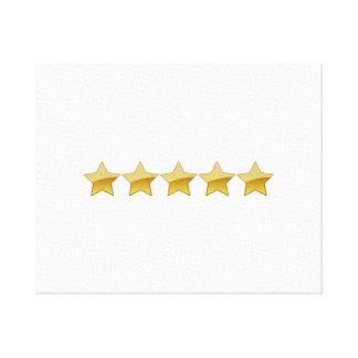 5 estrellas lona estirada galerias