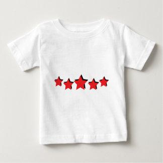 5 estrellas rojas de lujo playeras
