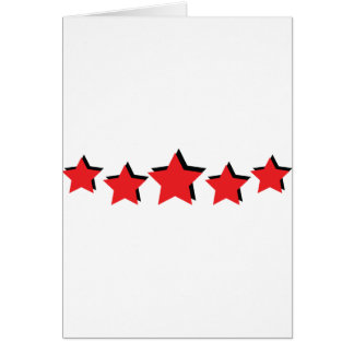 5 estrellas rojas de lujo tarjeta de felicitación