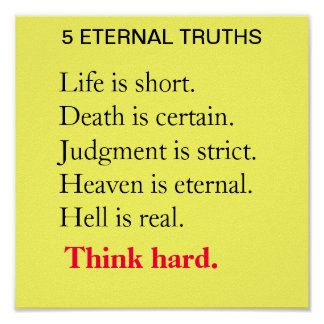 5 ETERNAL TRUTHS POSTER