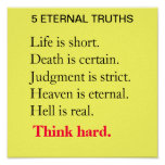 5 ETERNAL TRUTHS POSTERS