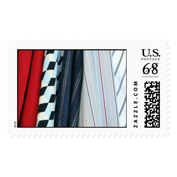 5 Fabrics With Geometric Patterns – Large Postage Stamp