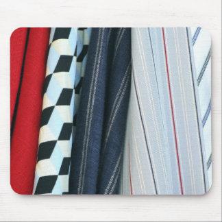 5 Fabrics With Geometric Patterns Mouse Pad