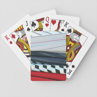 5 Fabrics With Geometric Patterns Playing Cards