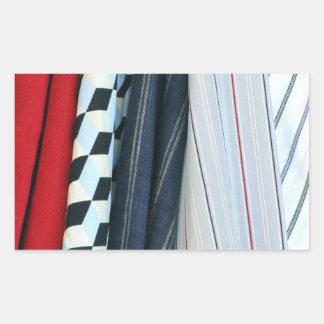 5 Fabrics With Geometric Patterns Rectangular Sticker