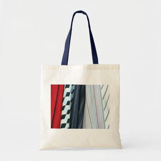 5 Fabrics With Geometric Patterns Tote Bag