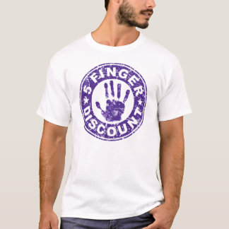 5 Finger Discount Logo - Grape T-Shirt