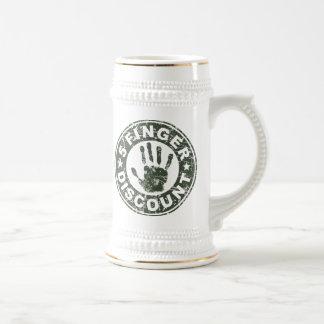 5 Finger Discount Logo - Green Tea Mugs
