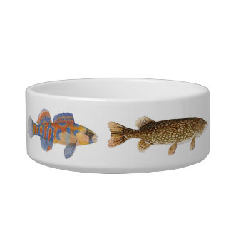 5 Fish Cat Bowl
