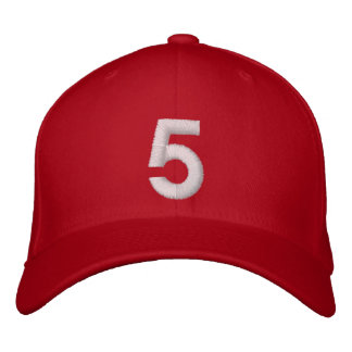 5 Five Embroidered Baseball Cap
