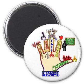 5 FIVE FINGER PRAYER AID 2 INCH ROUND MAGNET