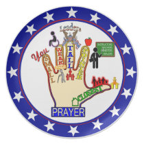 5 FIVE FINGER PRAYER AID DINNER PLATE