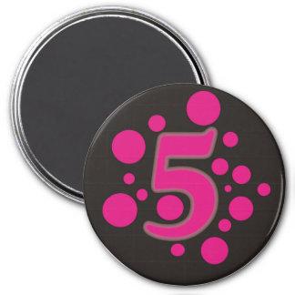 5-Five Imán Redondo 7 Cm