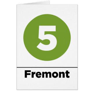 5 fremont-negros tarjeta de felicitación