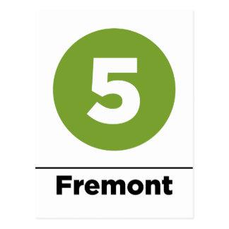5 fremont-negros tarjetas postales