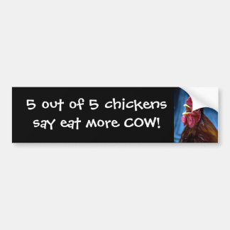 5 fuera de 5 pollos dicen…. pegatina para auto