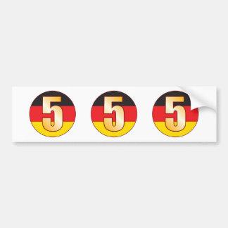 5 GERMANY Gold Bumper Sticker