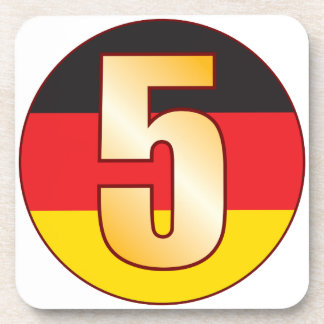5 GERMANY Gold Drink Coaster