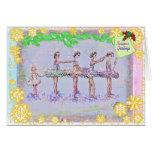 5 Girls in a Row-Nutcracker-290 Greeting Card