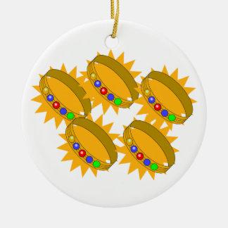 5 Gold Riings Ceramic Ornament