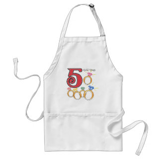 5 Gold Rings Adult Apron