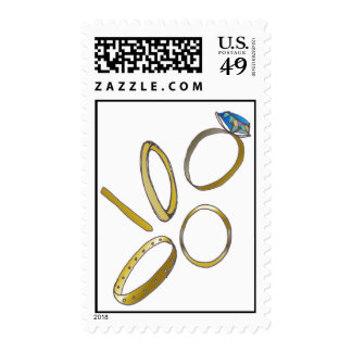 5 Gold Rings postage stamp
