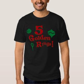 5 Golden Rings T Shirt
