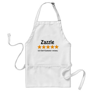 5 golden stars chef adult apron