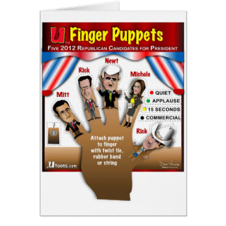 5 GOP Finger Puppets Card
