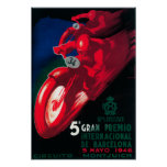 5 Gran Premio Internat'l Motorcycle Poster