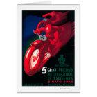 5 Gran Premio Internat'l Motorcycle Poster Card