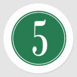 #5 Green Circle Stickers