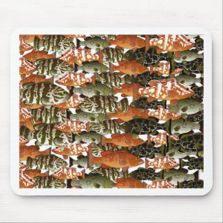 5 Groupers Pattern Mouse Pad