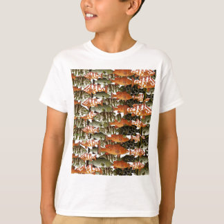 5 Groupers Pattern T-Shirt