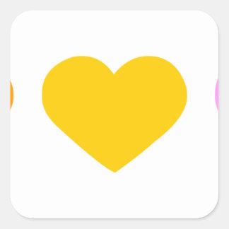 5 hearts.png pegatina cuadrada