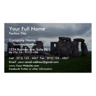 5 horizon test Stonehenge England rock formation Business Cards
